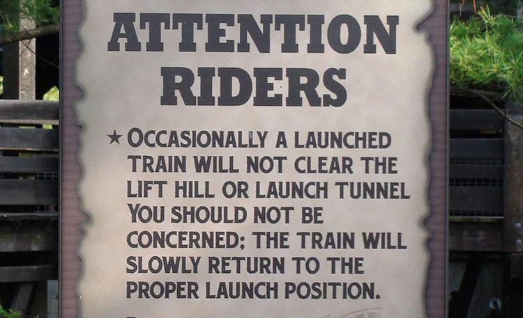 Maverick launch warning sign
